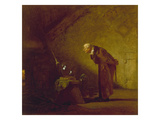 The Alchemist, about 1855/60 Gicléetryck av Carl Spitzweg