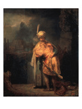 David's Parting from Absalom (Jonathan), 1642 Prints by  Rembrandt van Rijn
