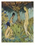 Drei Badende Maedchen Giclee Print by Otto Mueller