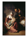 The Holy Family Posters by  Rembrandt van Rijn