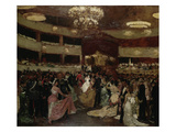 The Opera Ball Giclee Print by Franz Skarbina
