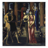 "The Wedding. Centre Panel of the Triptych ""The Courtship"", 1884/85-1887 Giclee Print by Hans Marées"