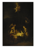 Adoration of the Shepherds, 1706 Reproduction procédé giclée par Adriaan van der Werff