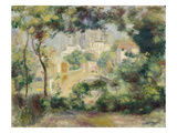 Landscape with View of the Newly Built Sacre-Coeur, about 1896 Giclee Print by Pierre-Auguste Renoir