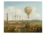 George Biggin's Ascent in Lunardi's Balloon, 1785 Reproduction procédé giclée par Julius Caesar Ibbetson