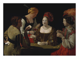 The Cheat with the Ace of Diamonds, about 1635-40 Giclee Print by Georges de La Tour