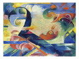 Broken Forms, 1914 Giclee Print by Franz Marc