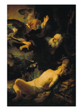 The Sacrifice of Isaac, 1635 Print by  Rembrandt van Rijn