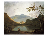 Snowdon from Llyn Nantlle, um 1765/67 Print by Richard Wilson
