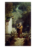 The Cactus Lover. before 1858 Gicleetryck av Carl Spitzweg
