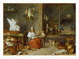Kitchen Interior, 1644 Giclee Print by David Teniers the Younger