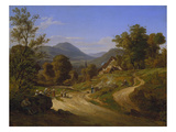 View from Kleingemuend to Neckargemuend Near Heidelberg, 1828 Giclee Print by Ernst Fries