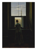Woman at the Window, 1822() Print by Caspar David Friedrich