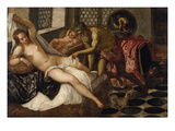 Mars and Venus Surprised by Vulcan Giclée-tryk af Jacopo Robusti Tintoretto
