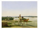 The River Isar Near Munich, 1819 Giclee Print by Wilhelm von Kobell