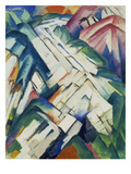 Mountains (Formerly Landscape), 1911/12 Giclee Print by Franz Marc