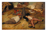 The Land of Cockayne, 1566 Giclee Print by Pieter Bruegel the Elder