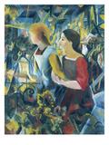 Two Girls, 1913 Giclée-tryk af Auguste Macke