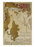 Poster for the Xv. Exhibition of Salon des Cent 1896 Giclee Print by Alphonse Mucha