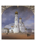 Panorama of the Kremlin, 1839. Centre Panel of the Triptych Giclee Print by Johann Philipp Eduard Gaertner
