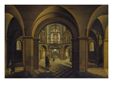 Church Interior (Aachen Cathedral) Giclee Print by Hendrick Steenwijk