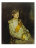 Fuerst Otto Von Bismarck in the Uniform of the Halberstaedter Cuirassiers Giclee Print by Franz Seraph von Lenbach