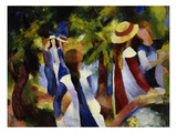 Girls under Trees, 1914 Giclee Print by August Macke