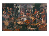 Christ in the House of Martha and Mary, 1553 Reproduction procédé giclée par Pieter Aertsen