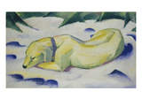 Dog Lying in the Snow, 1910/1911 Giclee Print by Franz Marc