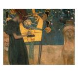 Gustav Klimt - Music, 1895 Digitálně vytištěná reprodukce