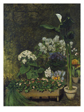 Still-Life with Flowers (Arum and Green House Plants), 1864 Giclee Print by Auguste Renoir