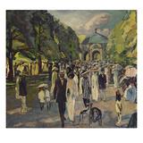 Im Muenchner Hofgarten, 1911 Giclee Print by Albert Weisgerber