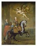 Max III. Joseph Von Bayern Zu Pferde Giclee Print by Georg Desmarées