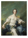 The Marquise De Baglion as Flora, 1746 Giclee Print by Jean-Marc Nattier