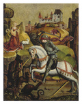 St. George Fighting the Dragon Giclee Print by Hans Mayr von Landshut