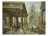 Palace Architecture with Pedestrians, 1596 Giclee Print by Hans Vredeman de Vries