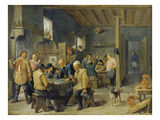 Tavern Scene, 1643 Art by David Teniers