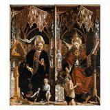 Kirchenvaeteraltar. Mittelteil Innen: die Hll.Augustinus Und Gregor Giclee Print by Michael Pacher