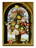 Vase with Flowers in a Window, about 1618 Giclee Print by Ambrosius Bosschaert