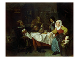 The Bean Feast Giclee Print by Gabriel Metsu