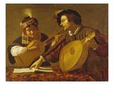 Das Musizierende Paar. (Kopie) Giclee Print by Bartolomeo Manfredi