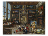 A Collector's Gallery. (Realised with Cornelis De Baellieur) Poster by Frans II the Younger Francken