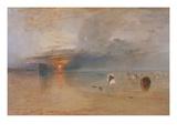 Strand Bei Calais, Fischerfrauen Sammeln Koeder Ein, 1830 Giclee Print by J. M. W. Turner