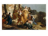The Finding of Moses Giclee Print by Giovanni Battista Tiepolo