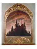 The Cross in the Mountains, 1808 (For the Private Chapel of the Earl Von Thun in Tetschen) Giclee Print by Caspar David Friedrich