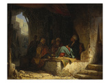Turks in a Coffee House, 1855-60 Gicleetryck av Carl Spitzweg