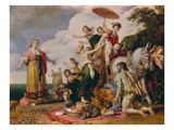 Ulysses and Nausicaa, 1619 Giclee Print by Pieter Lastman
