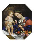 Virgin Mary with the Infant Christ, 1649 Plakat af Carlo Dolci