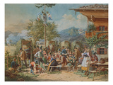 Target Practice at a Marksmen-Club in Bayerisch-Zell, 1853 Giclee Print by Lorenzo Il Quaglio