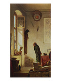 The Cacti Aficionado, about 1865 Giclee Print by Carl Spitzweg
